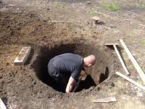 Копка колодца в Рузском районе